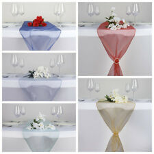 "12 pcs 14""x 108"" Sheer Organza Table Top Runners Wedding Party Decorations SALE"