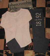 NWT ABERCROMBIE KIDS SKINNY SWEATPANTS & TOP - SZ S OR M