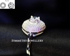 1.8 Ct Brilliant Cut Created Diamond Engagement Ring Real 925 Sterling Silver