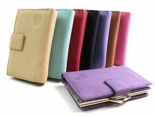 LADIES HIGH QUALITY SUPER SOFT GENUINE LEATHER PURSE WALLET CREDIT CARD HOLDER