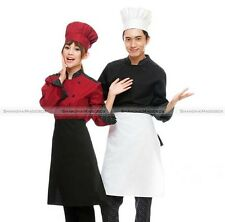 Cloth Chef Hat One Size Fits All Free Restaurant Uniform Black White Red