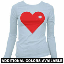 Heart of Chicago Women's Long Sleeve T-shirt - LS - UIC DePaul Bulls Bears Fire