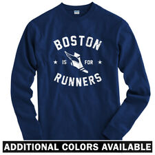 Boston is for Runners Long Sleeve T-shirt LS - RUN BOS Running Yale  Men / Youth