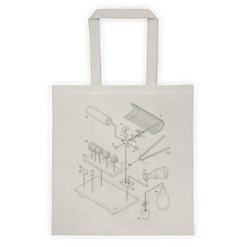 EXPLODED SUSHI Clever Exploded View Reusable Shopping Tote Bag