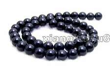 "SALE High quality Big 10mm Round Black agate Beads Strand 15""-los216"