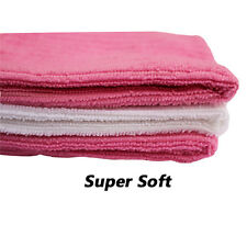 New Microfiber Face Cloths Pink & White Super Soft Quick Absorbent Travel Makeup
