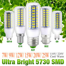 Ultra Bright 5730 SMD LED Corn Bulb Lamp Light 110/220V 7~25W E27 E14 B22 G10 G9