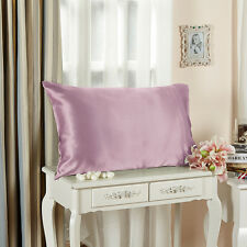 19 Momme Silk Pillowcase Terse Pillow Cover 100% Mulberry Silk Solid Color