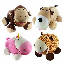 Plush Storage Pets Tummy Stuffer Kids Childrens Snuggle Teddy Soft Toy Big Mouth