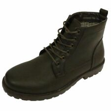 MENS BROWN EX DESIGNER LACE-UP COMBAT MILITARY ARMY ANKLE BOOTS SHOES SIZES 6-12
