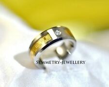 AAAAl Rare Mens Womens Tungsten Carbide & 18K Gold Inlay
