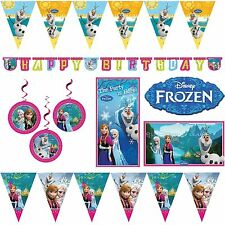 DISNEY FROZEN BUNTINGS & BANNERS ANNA OLAF PRINCESS BIRTHDAY PARTY DECORATIONS