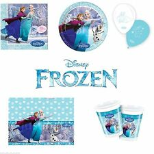 DISNEY FROZEN PRINCESS BIRTHDAY PARTY TABLEWARE- NEW ICE SKATING RANGE -UK STOCK