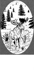 MOOSE static cling etched glass window decal, REMOVABLE and REUSABLE