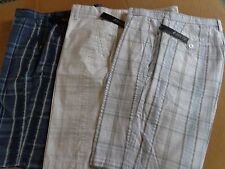 MEN'S APT.9 FLAT FRONT COTTON SEERSUCKER SHORTS~SIZES~BLUES OR WHITE PLAID
