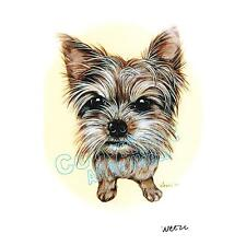 Yorkshire Terrier Art Yorkie Print Pet Portrait Picture Dog Lover Gift