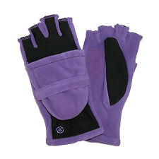 New totes ISOTONER Womens Fleece Stretch Convertible Gloves with Thumb Hole