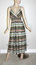 D128 COLORFUL ZIG ZAG SPAGHETTI STRAP MAXI SUNDRESS WOMEN PLUS SIZE 1X 2X 3X
