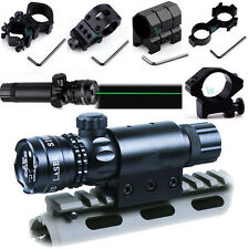 Adjustable Tactical Green Laser Sight Rifle Dot Scope w Mount F Hunting Shooting