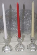 """12-10"""" x 3/4"""" Dinner Taper Candles~White, Ivory OR Red~You Choose~10-Hour Burn"""