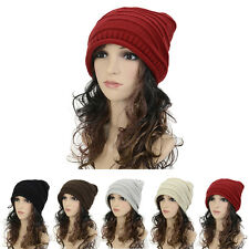Women Knitting Wool Pile Folds Tide Baotou Winter Warm Hat Lady Fashion Cap Gift