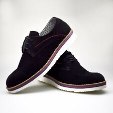 New Mens Shoes Suede Red Black Blue Brogue Lace Up Oxford Smart 6 7 8 9 10 11