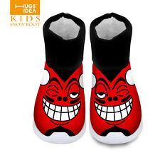 Cool Cartoon Shoes Toddler Boys Girls boots Winter Children kids Warm boots Snow