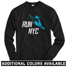 Run New York V3 Long Sleeve T-shirt LS - NYC Marathon City Fitness - Men / Youth