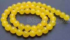"SALE small 8mm Round yellow jade gemstone beads strands 15""-los515"