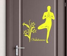 Door sticker Vrikshasana Yoga Sport door decoration slogan sticker G172