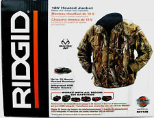 NEW RIDGID 18v 18 VOLT CAMOUFLAGE HEATED JACKET COAT + (2) BATTERIES & CHARGER