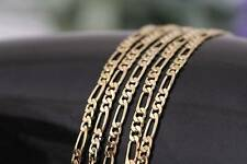 """Bulk Wholesale Lots 5pcs 2mm 18K Gold Plated Figaro Link Chain Necklace 18""""-30"""""""