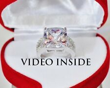 Luxury4.Carat Engagement Ring Wedding Diamond Ring Platinum Made in Italy