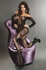 Livco Corsetti Lingerie Hassiba Crotchless Open Crotch Bodystocking S/L OS