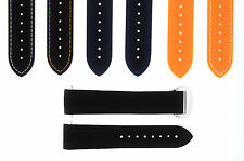 20MM 22MM RUBBER DIVER STRAP BAND 41MM + 45.5MM OMEGA SEAMASTER CLASP CURVED#43C