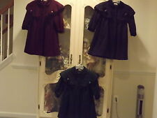 Vintage Rothschild Girls Wool Dress Coat Size 4,5,6,6X equals 7