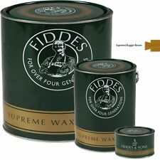 Fiddes Supreme Rugger Brown Wood Wax Polish/Restorer For Furniture & Woodwork