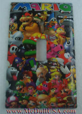 Super Mario All Characters Toggle Rocker Light Switch Duplex Outlet Cover Plate