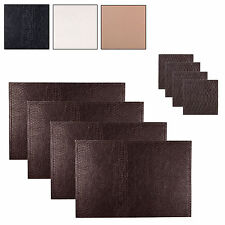Set Of 4 Faux Leather Snakeskin Coasters & Place Mats Dining Table Tableware