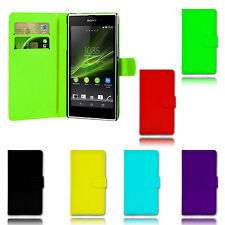 Magnetic Wallet Flip Book ID Holder Leather Pu Case Cover For Sony Xperia E4G
