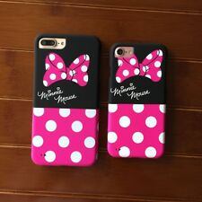 Pink Dot bow Minnie mouse Fullbody front back case cover for iphone6 6S plus 5S