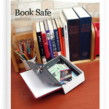 Home Security Dictionary Book Safe Cash Jewelry Storage Key Lock Box Case Holder