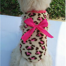 Animal Leopard Print Clothing Warm Fleece Pet Clothes Teddy for Puppy Dog Funny