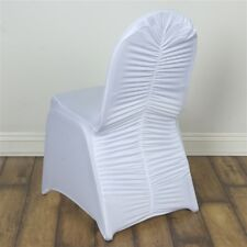 50 pcs Ruched SPANDEX BANQUET CHAIR COVERS Wedding Supplies