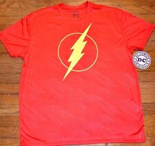 The Flash Logo Style Athletic T-Shirt 100% Polyester DC Comics Licensed Tee