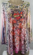 Womens Maternity Shirt Top Multi Color Pink 3/4 Sleeve Blouse Size S M L XL New