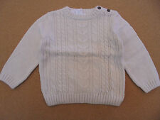 Darling Boy's Gymboree Ivory Knit Sweater with Elbow Patches Retail $33