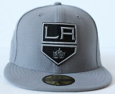 Los Angeles Kings New Era Shield Logo 59Fifty Fitted Storm Gray Cap Hat