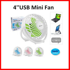 Sansai Notebook Laptop Computer Portable Super Mute PC USB Cooler Desk Mini Fan