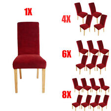 Soft Stretch Dining Room Chair Covers Protector Slipcover Washable Removable UK